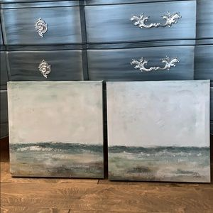 Hand painted ocean canvas